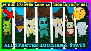 *ALL* Loomian Legacy Starter Stats | (ROBLOX)