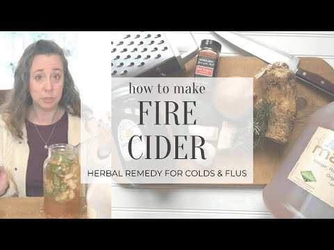 How To Make Fire Cider | herbal remedy to fight off colds/flus
