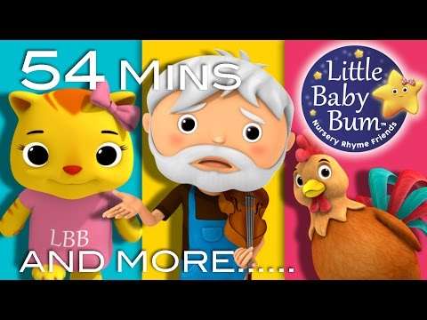 Cock-A-Doodle-Doo | Plus Lots More Nursery Rhymes | 54 Minutes Compilation from LittleBabyBum!