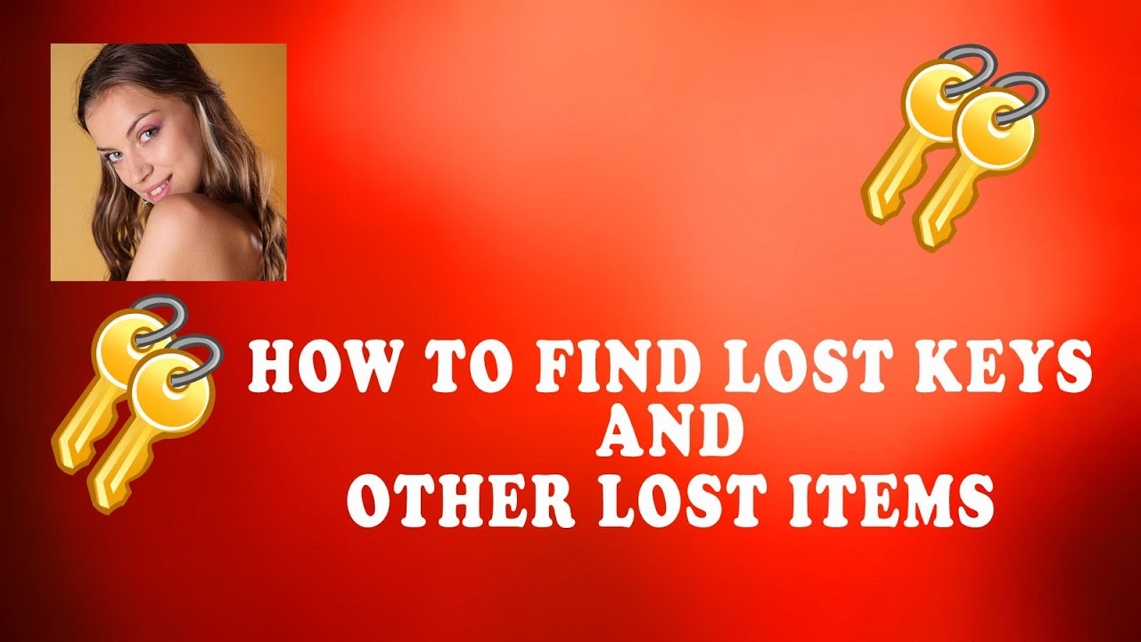 How to find a lost item 1