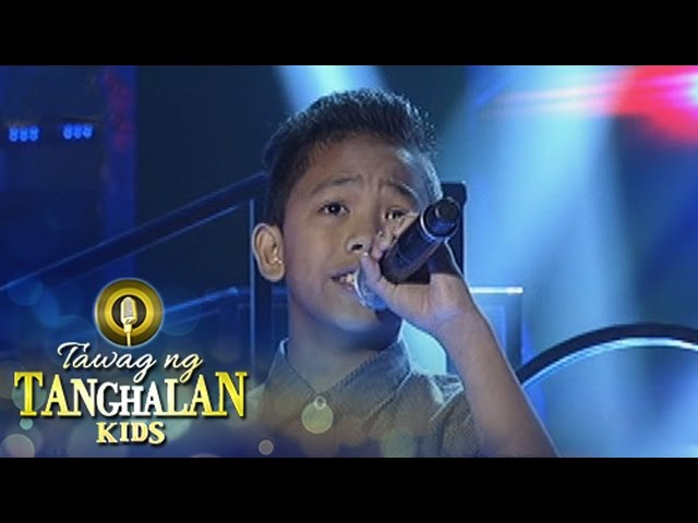 Tawag ng Tanghalan Kids: David Niel Amata | Ever Since The World Began