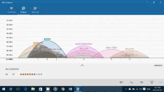 Windows 10 tips and tricks Wifi Analyzer app to view understand how to maximize signal on 2.4 and