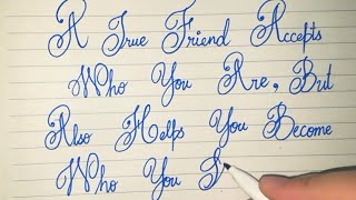 Beautiful Calligraphy | Friendship Quotes | Fancy Letters | Cursive | Stylish | Alphabets