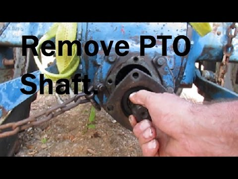 Remove PTO Shaft To Replace PTO Seal Part1  - YouTube
