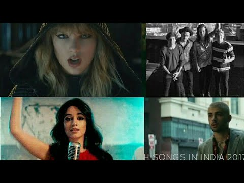 Top 20 Most Popular English Songs Play In India 2017 ||Updated list