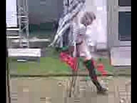 Amputee ladies crutching