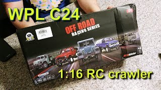 WPL C24 1:16 RC crawler - unboxing