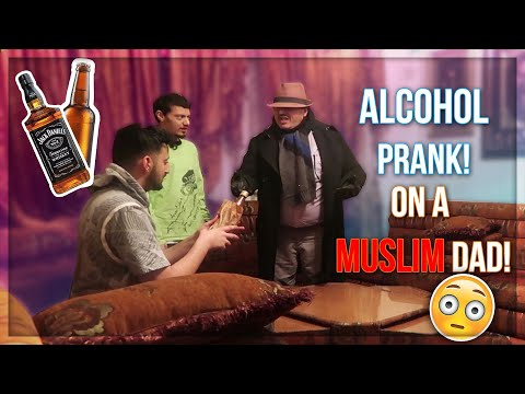 DRINKING ALCOHOL PRANK ON MUSLIM DAD! (HE FLIPS OUT!)