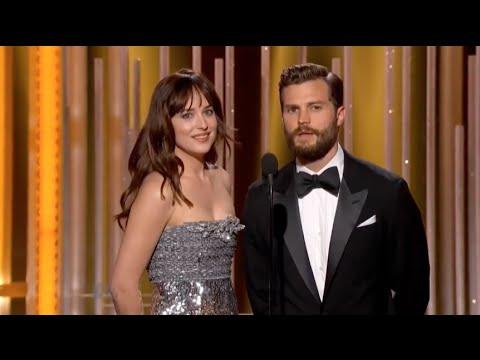 Dakota Johnson and Jamie Dornan at The Golden Globes