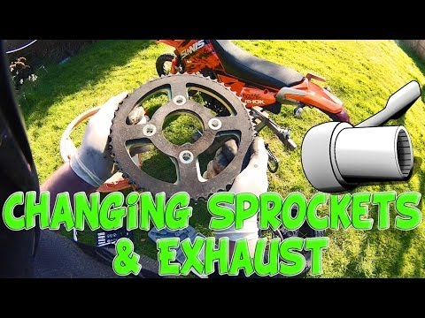 Changing Sprockets and Exhaust!