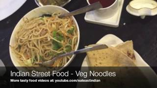 Veg Noodles Dhaba Style Indian Street Food