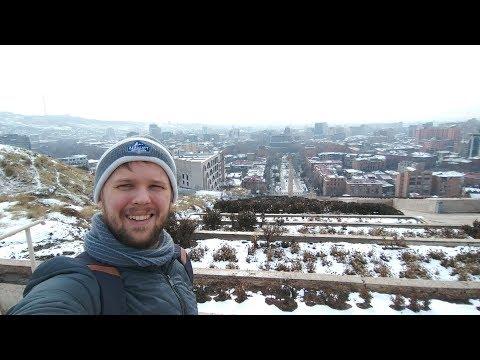 Снежный Ереван. Армения. Стрим.