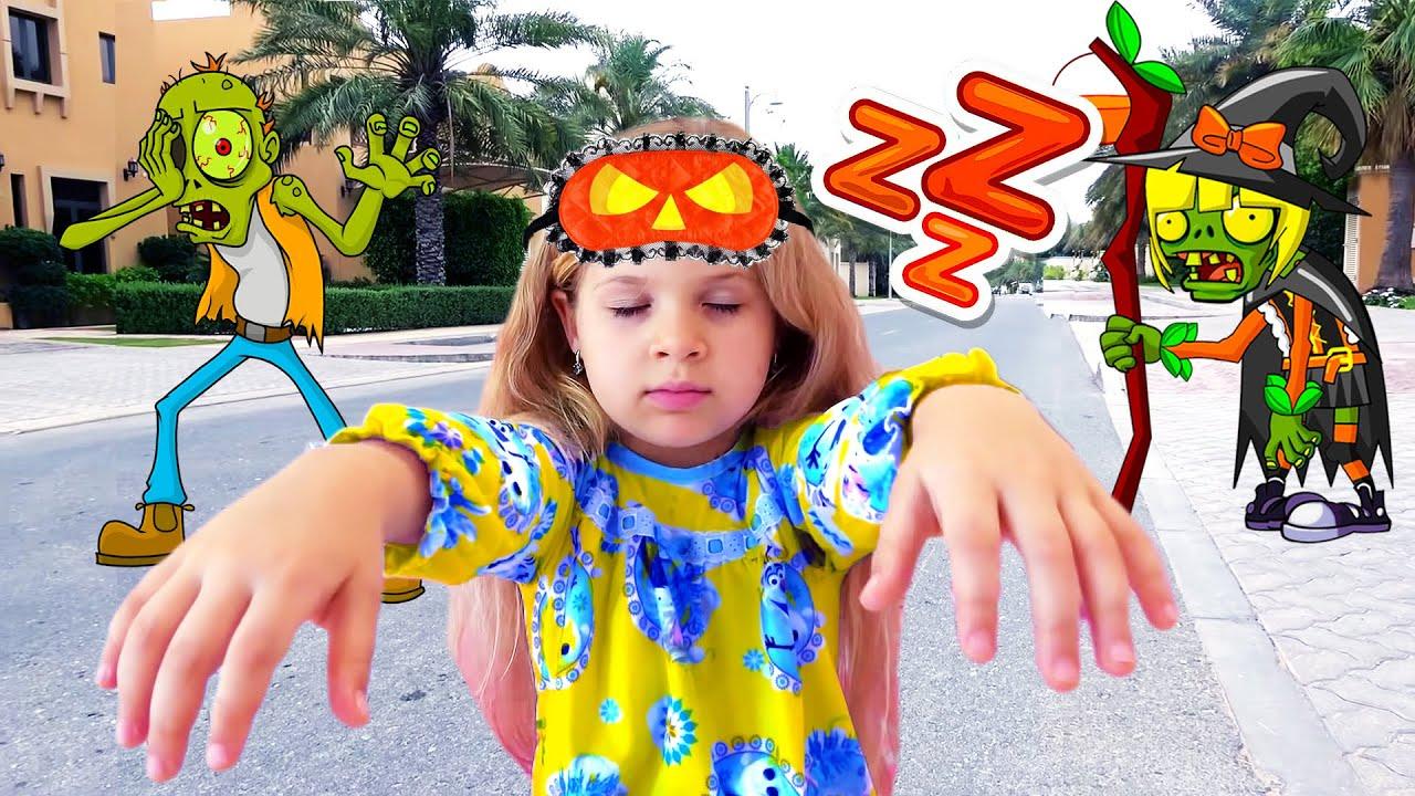 ديانا وقصة السير أثناء النوم