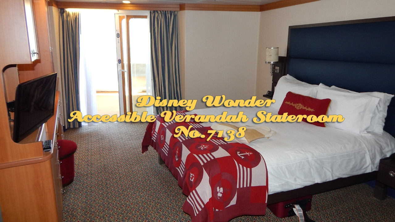 Disney Wonder Handicapped Accessible Stateroom 7138 Tour