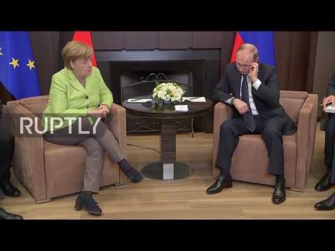 Russia: Putin and Merkel kick off talks in Sochi