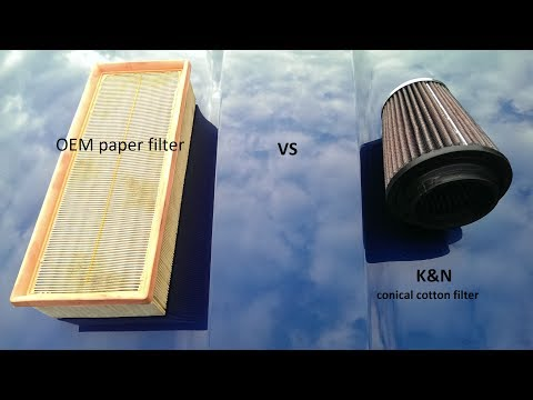 testing K&N vs OEM original air filter on a stock car