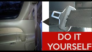 How To Fix Repair a Stuck Seatbelt (Retract Seat Belt Toyota Ford Nissan Honda Dodge Hyundai Kia Car