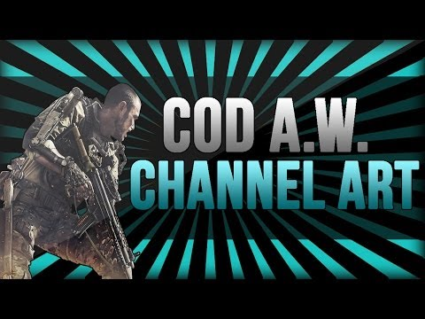 Channel Art Template (Photoshop) - COD Advanced Warfare |  With Tutorial