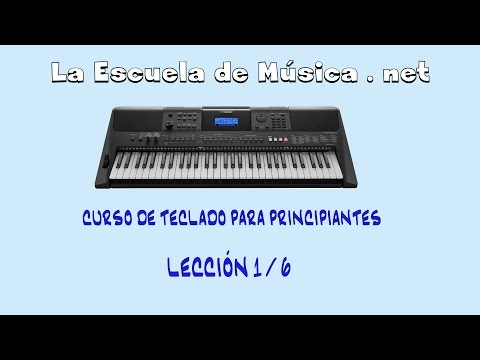 Como tocar piano para principiantes , lección 1-6 , un nuevo ejercicio. Yamaha PSR-E453