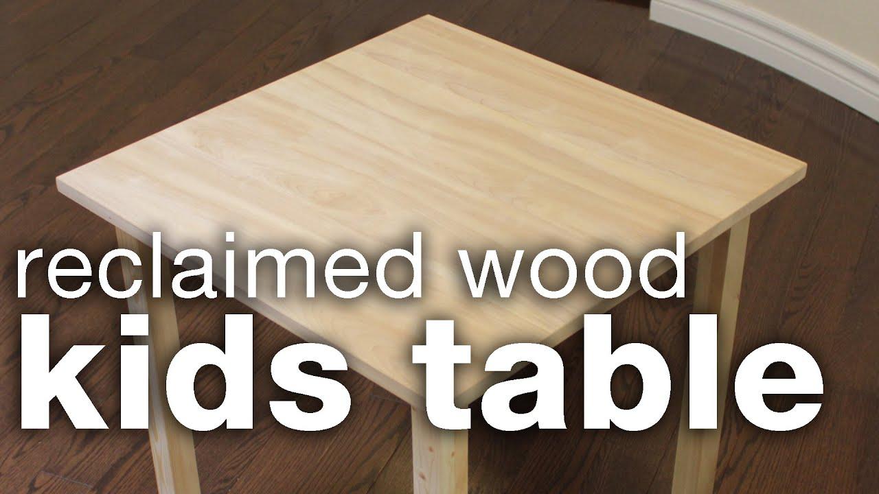 DIY Reclaimed Wood Kids Table