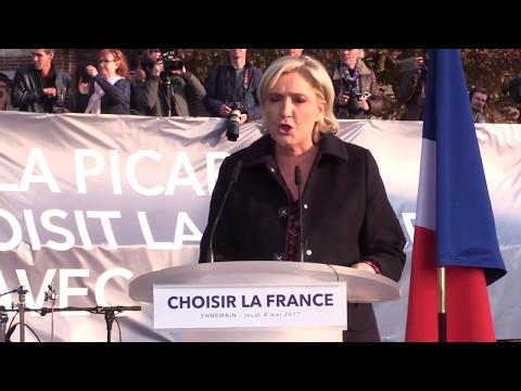 Dernière réunion de Marine Le Pen à Ennemain (80) |Marine 2017