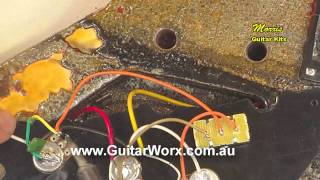 Grounding the bridge on a Flying V Guitar Kit - www.GuitarCentre.store - USA Guitar Kits