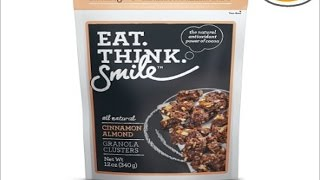 We Shorts - Eat Think Smile Cinnamon Almond Granola Clusters