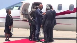 Prezidan Michel Joseph Martelly rive nan peyi Jamayik, jounen 5 septanm 2015