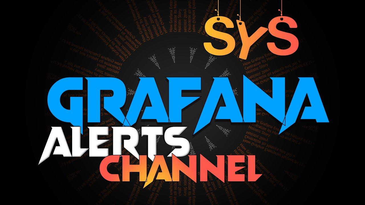 Grafana как создать канал уведомлений для telegram?