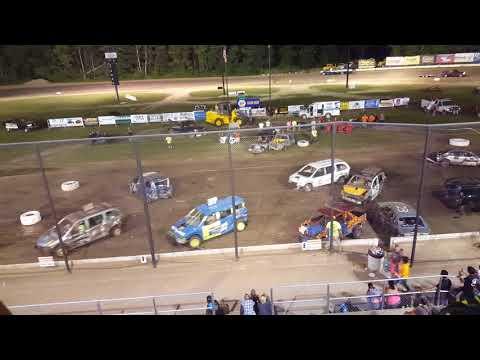 Brewerton Speedway Light Truck and Mini Van Demolition Derby + (ROLL OVER)
