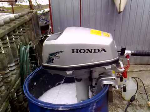 honda  hp outboard motor   stroke  suw youtube