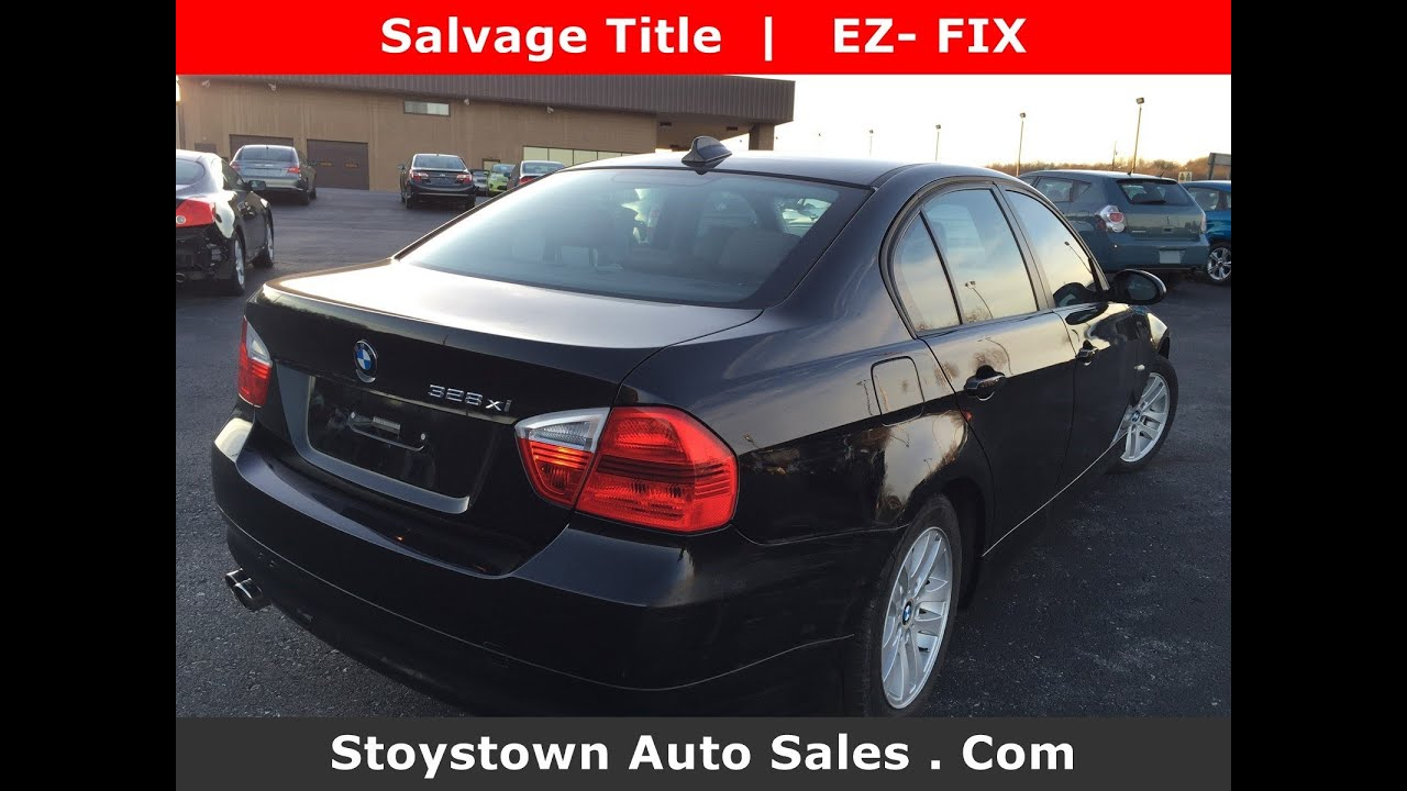 Stoystown Auto Sales >> 2007 Bmw 328 Xi Black Awd Near Pittsburgh Pa Salvage Ex Fix Youtube