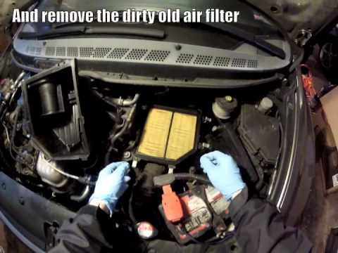 DIY Replace Engine Air Filter in an 8th Generation Honda Civic