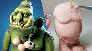 Sculpting a MOUNTAIN TROLL! Character Design Polymer Clay Tutorial | Ace of Clay