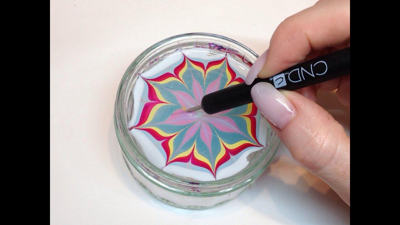 How To Produce Water Marbling Nail Art With Nail Polish ...