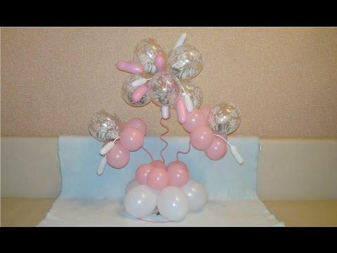 Денежный букет из воздушных шаров. Money flower from balloons.