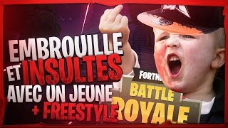EMBROUILLE AND INSULTE ON FORTNITE WITH A RAPPER WHO FREESTYLE
