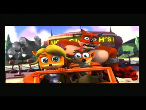 Crash Tag Team Racing PS2 Story Cutscenes - YouTube