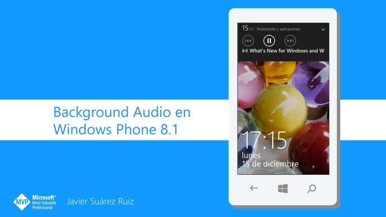 background audio windows phone 8.1