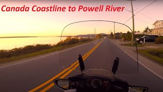 Honda ST1300 Cruise up Sunshine Coast to Powell River BC Canada