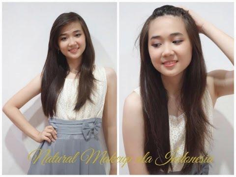 Tutorial makeup Natural look indonesian Makeup Makeup hijab Tutorial ...