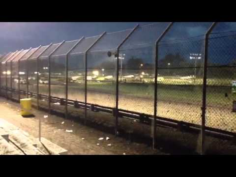 First lap of UMP Modifieds @ Gas City I-69 Speedway