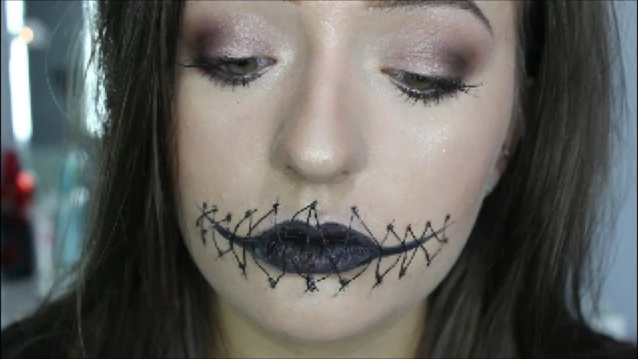 Stitch Halloween Makeup Stitched Mouth Sfx Makeup Halloween Youtube