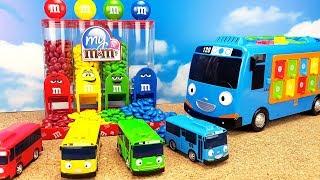 Умный автобус Тайо и его друзья из мультика Учим цвета Развивающее видео для детей Toy Tayo 꼬마버스 타요,