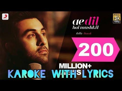 Ae dil hai mushkil instrumental (flute)with karoke ,sharaf sahil thumbnail