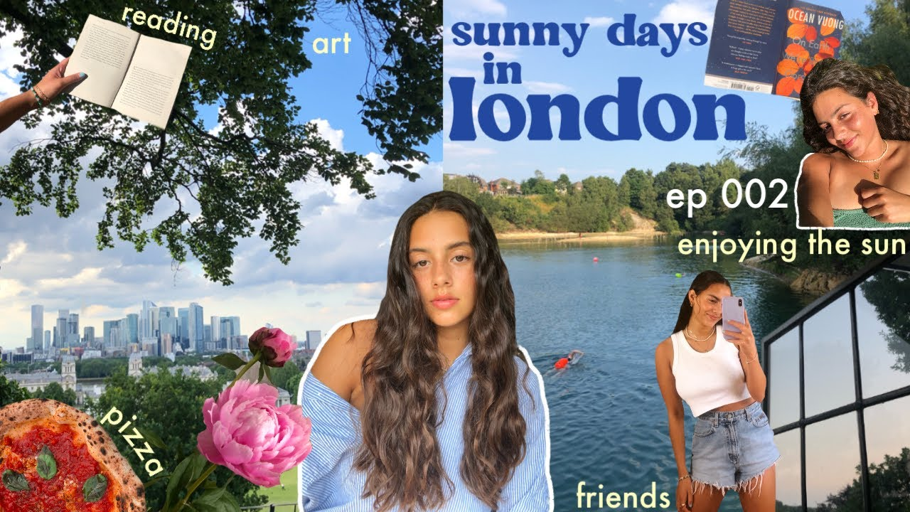sunny days in london 💐🦋 art, seeing friends, lake swimming and reading!