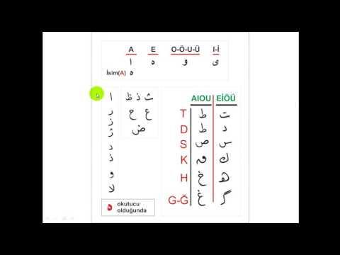 Osmanlıca Dersleri (Pratik)- 5 Kendinden Sonraki Harflerle Birleşmeyen Harfler