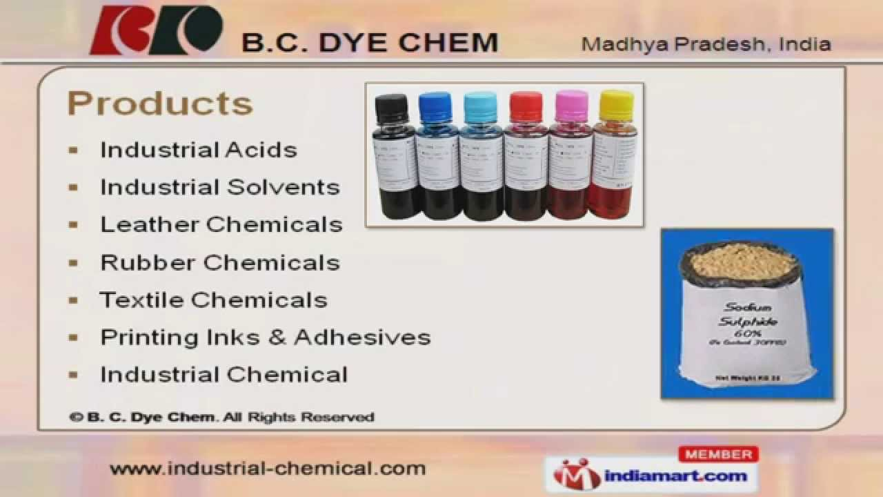 Industrial Chemicals by B  C  Dye Chem, Indore
