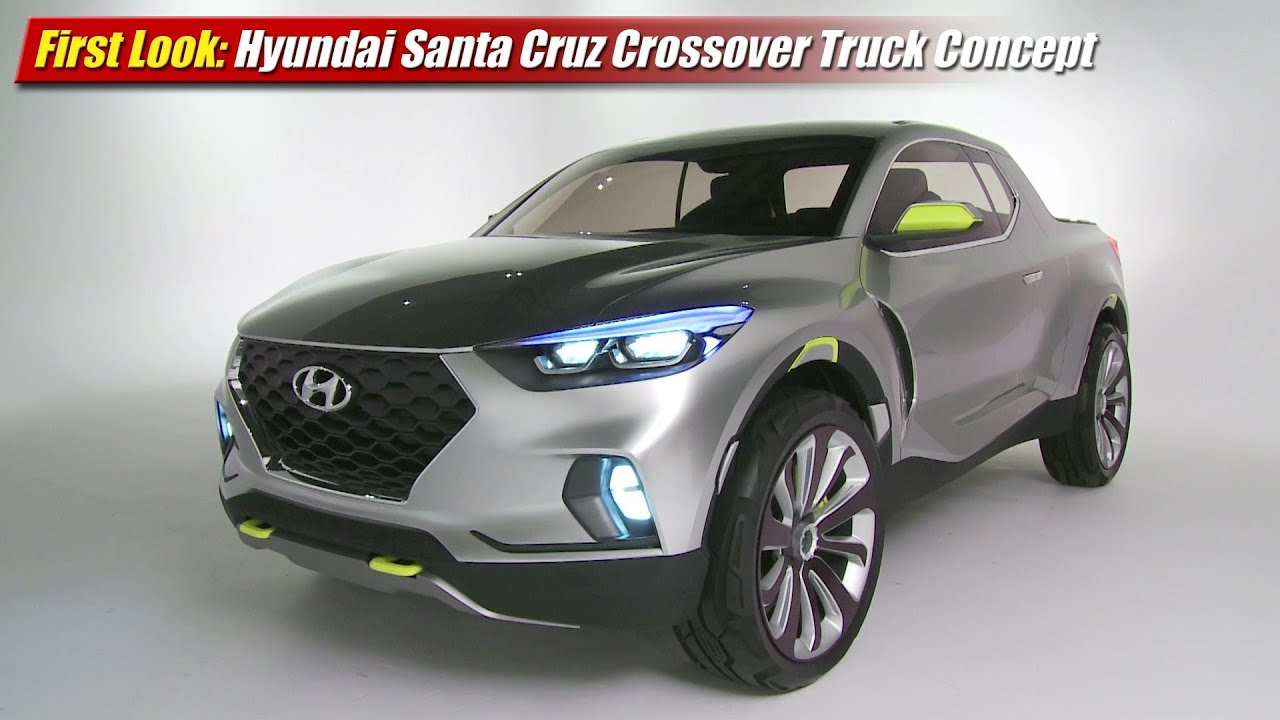 first look hyundai santa cruz crossover truck concept youtube. Black Bedroom Furniture Sets. Home Design Ideas