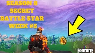 Fortnite - SEASON 8 SEMAINE 5 DISCOVERY CHALLENGE SECRET BATTLE STAR LOCATION IN LOADING SCREEN #5